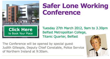 Suzy Lamplugh Trust's Lone Worker Safety event Belfast 2012