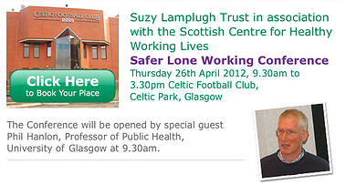 Suzy Lamplugh Trust's Lone Worker Safety event Glasgow 2012