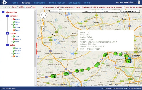 Vehicle Tracking Journey Map