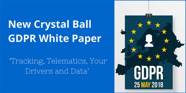 Blue banner that promotes Crystal Ball's GDPR White Paper.