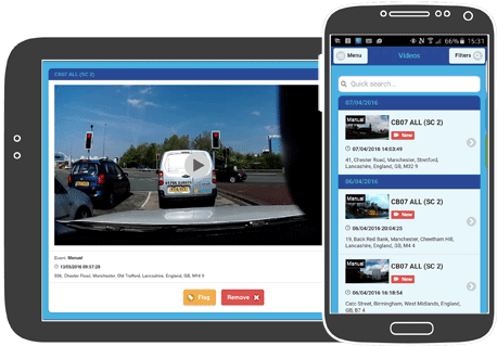 fleet dash camera smartphone App