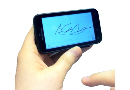 geotag signature on smartphone