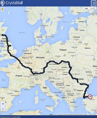 mongol rally snail trail route