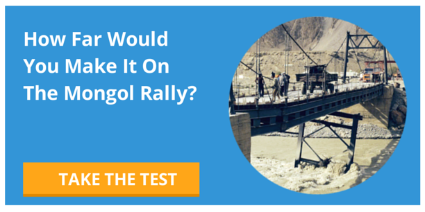 Take the Mongol Rally Quiz