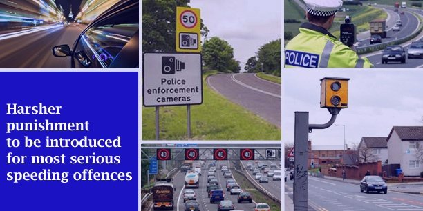 Harsher punishment to be introduced for most serious speeding offences