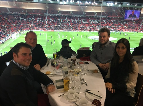 Crystal Ball and customer's enjoy goal bonanza at Manchester Utd's Executive Club