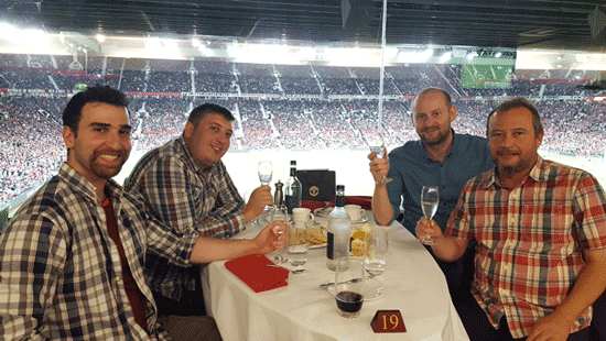 With drinks and goals flowing freely a fantastic night was had by all at Man Utd's Executive Club