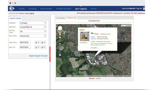 mobile geotag map view