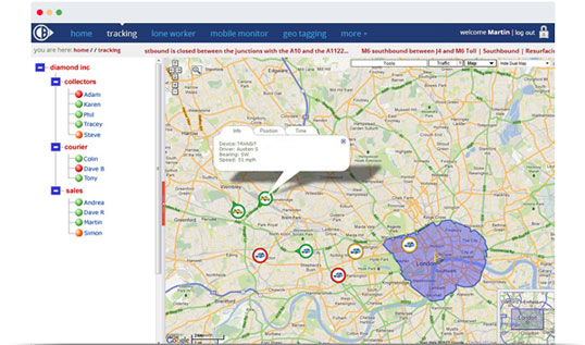 mobile phone tracking system